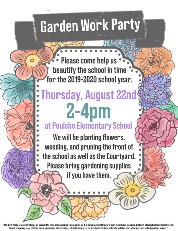 Garden Work Party 2019